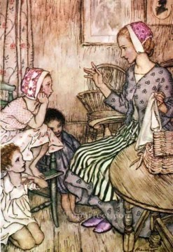Goblin Market Laura would call the little ones illustrator Arthur Rackham Oil Paintings