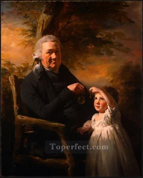 Scott Canvas - John Tait and His Grandson Scottish portrait painter Henry Raeburn