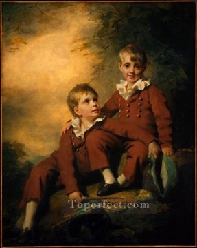 Inn Painting - The Binning Children Scottish portrait painter Henry Raeburn