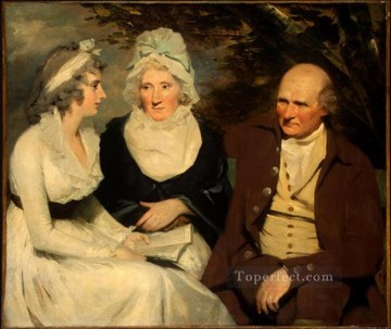 Scott Canvas - John Johnstone Betty Johnstone and Miss Wedderburn Scottish portrait painter Henry Raeburn