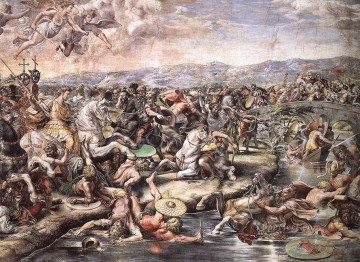 The Battle at Pons Milvius detail1 Renaissance master Raphael Oil Paintings
