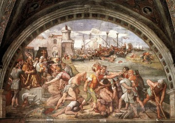 The Battle of Ostia Renaissance master Raphael Oil Paintings