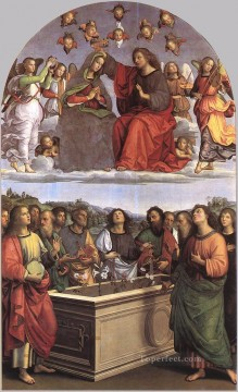 row - The Crowning of the Virgin Oddi altar Renaissance master Raphael