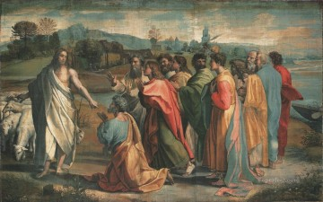 The Handing over the Keys Renaissance master Raphael Oil Paintings