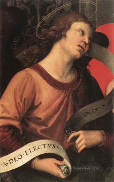 Altarpiece Painting - Angel fragment of the Baronci Altarpiece Renaissance master Raphael