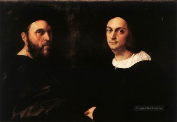 Double Portrait Renaissance master Raphael Oil Paintings