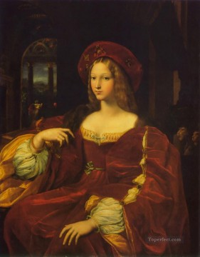 Joanna of Aragon Renaissance master Raphael Oil Paintings