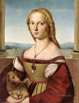 Lady with a Unicorn Renaissance master Raphael Oil Paintings