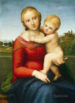 madonna Painting - Madonna and Child The Small Cowper Madonna Renaissance master Raphael