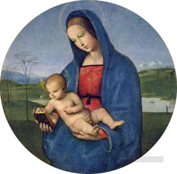 madonna Painting - Madonna with the Book Connestabile Madonna Renaissance master Raphael