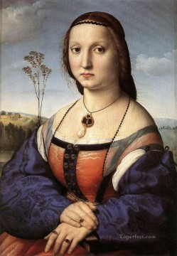 Portrait of Maddalena Doni Renaissance master Raphael Oil Paintings