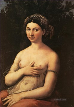 Portrait of a Nude Woman Fornarina 1518 Renaissance master Raphael Oil Paintings