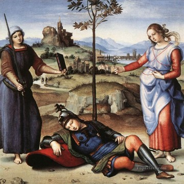 Night Art - Allegory The Knights Dream Renaissance master Raphael
