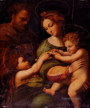 Saint Art - Holy Famliy With Saint John The baptist Renaissance master Raphael