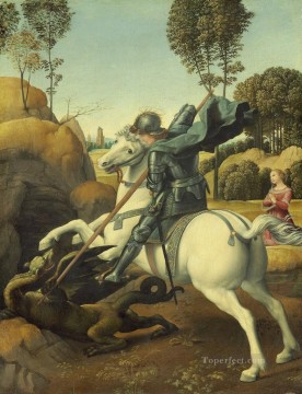 St George and the Dragon Renaissance master Raphael Oil Paintings
