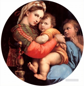 The Madonna of the Chair Renaissance master Raphael Oil Paintings