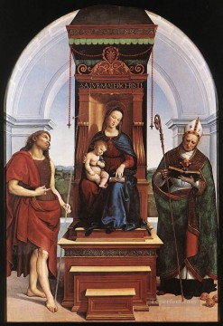 Altarpiece Painting - Madonna and Child The Ansidei Altarpiece Renaissance master Raphael