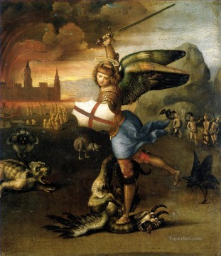 Saint Art - Saint Michael and the Dragon Renaissance master Raphael