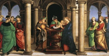 renaissance Painting - The Presentation in the Temple Oddi altar predella Renaissance master Raphael