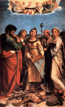 Altarpiece Painting - The Saint Cecilia Altarpiece Renaissance master Raphael