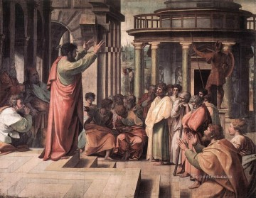 St Paul Preaching in Athens Renaissance master Raphael Oil Paintings