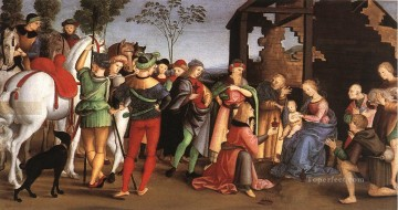 Adoration Art - The Adoration of the Magi Oddi altar Renaissance master Raphael