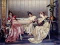 Elegant Figures In An Interior lady Vittorio Reggianini