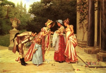 new orleans Painting - Admiring The Newborn lady Vittorio Reggianini
