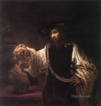 Rembrandt van Rijn Painting - Aristotle with a Bust of Homer portrait Rembrandt