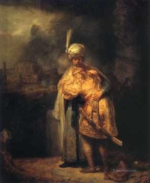 Rembrandt van Rijn Painting - David and Jonathan Rembrandt