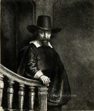 Ephraim Bonus Jewish Physician SIL portrait Rembrandt Oil Paintings