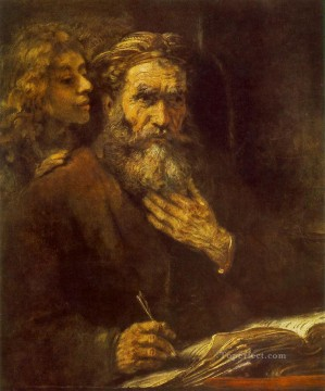 Evangelist Matthew portrait Rembrandt Oil Paintings
