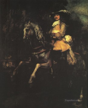 Frederick Rihel on Horseback Rembrandt Oil Paintings
