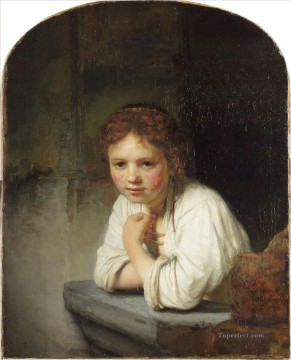 Girl portrait Rembrandt Oil Paintings