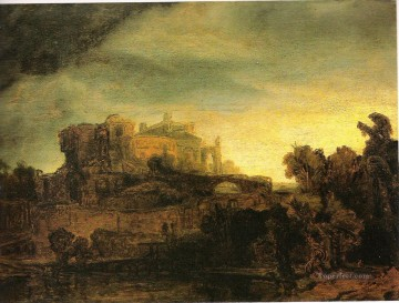 Landscape with a Castle Rembrandt Oil Paintings