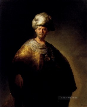 Rembrandt van Rijn Painting - Man In Oriental Dress portrait Rembrandt