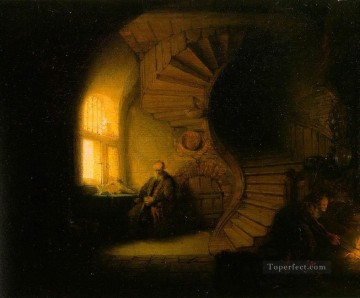 Philosopher in Meditation Rembrandt Oil Paintings