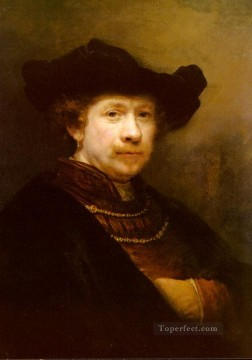 Portrait Of The Artist In A Flat Cap Rembrandt Oil Paintings