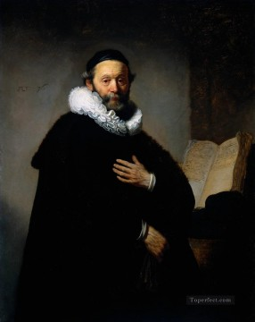 Portrait of Johannes Wtenbogaert Rembrandt Oil Paintings