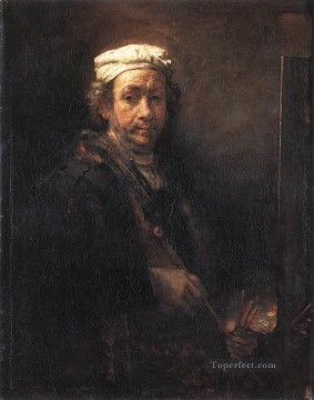 Portrait of the Artist at His Easel 1660 Rembrandt Oil Paintings