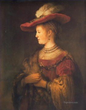 Saskia portrait Rembrandt Oil Paintings