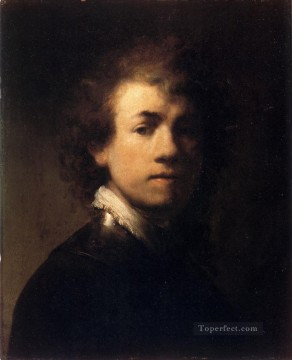 Rembrandt van Rijn Painting - Self Portrait In A Gorget Rembrandt