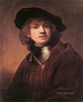 Self Painting - Self Portrait as a Young Man 1634 Rembrandt