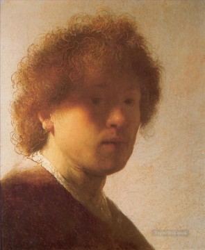 Self portrait 1628 Rembrandt Oil Paintings