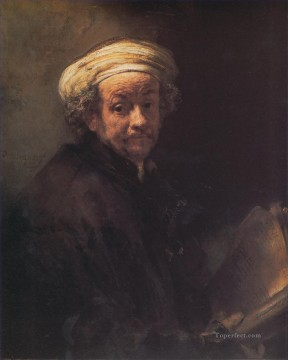 Rembrandt van Rijn Painting - Self portrait as the Apostle Paul Rembrandt