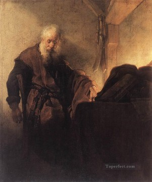 Rembrandt van Rijn Painting - St Paul at his WritingDesk Rembrandt