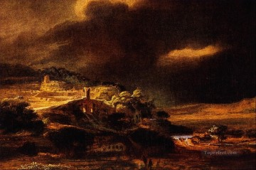 Stormy Landscape Rembrandt Oil Paintings