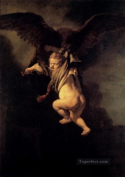 Rembrandt van Rijn Painting - The Abduction Of Ganymede Rembrandt