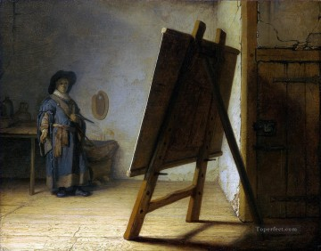 The Artist In His Studio Rembrandt Oil Paintings