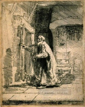 Rembrandt van Rijn Painting - The Blindness of Tobit SIL Rembrandt
